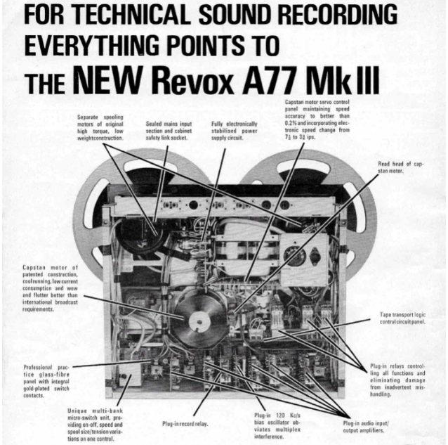 The A77 was a fine machine for quality voiceover recording or any radio station duties except of course editing